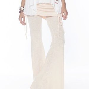 PEACE LOVE WORLD ROSEWATER FOLD-OVER PANTS